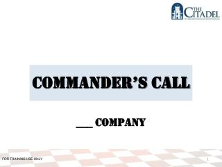 Commander's Call