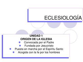 ECLESIOLOG�A