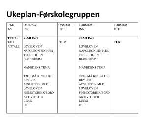 Ukeplan-Førskolegruppen