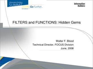 FILTERS and FUNCTIONS: Hidden Gems