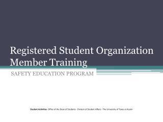 Registered Student Organization Member Training
