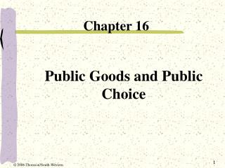 Public Goods and Public Choice