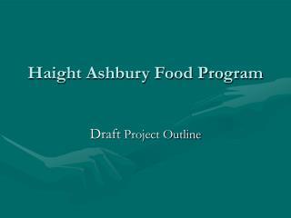 Haight Ashbury Food Program