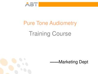 Pure Tone Audiometry Training Course