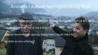 Årsmøte i Askvoll Næringsutvikling 2014