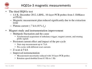 HQ01e-3 magnetic measurements