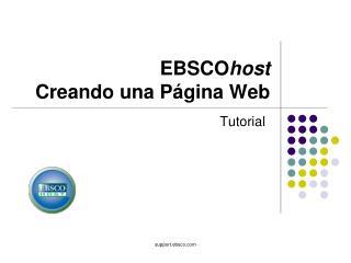 EBSCO host  Creando una Página Web