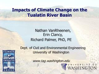 Impacts of Climate Change on the Tualatin River Basin