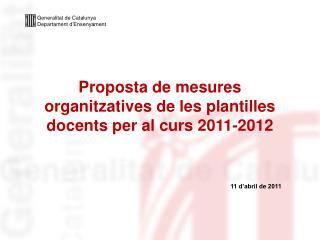 Generalitat de Catalunya Departament d'Ensenyament
