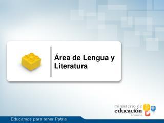 Área de Lengua y Literatura