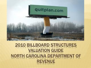 2010  BILLboard  structures valuation guide north  carolina  department of revenue
