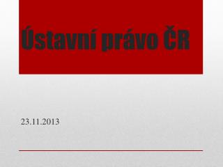 Ústavní právo ČR