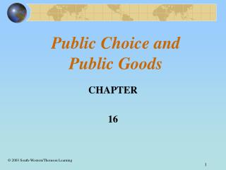 Public Choice and     Public Goods
