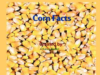 Corn Facts