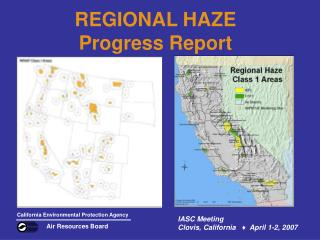 REGIONAL HAZE Progress Report