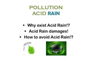 POLLUTION ACID RAIN
