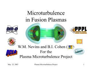 Microturbulence  in Fusion Plasmas