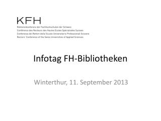Infotag FH-Bibliotheken