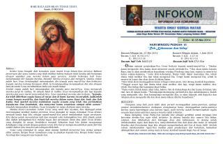 Edisi :  XI /25 Mei 2014