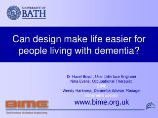 Can design make life easier for people living with dementia?