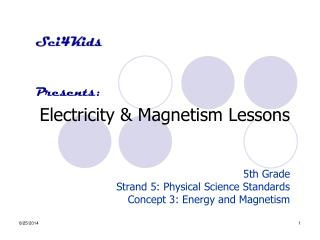 Electricity & Magnetism Lessons