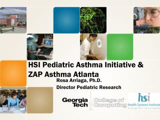 HSI Pediatric Asthma Initiative & ZAP Asthma Atlanta