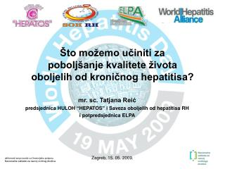 Što možemo učiniti za  poboljšanje kvalitete života  oboljelih od kroničnog hepatitisa?