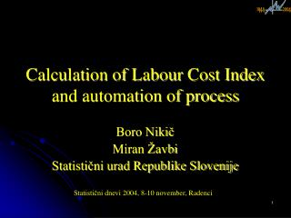 Calculation of Labour Cost Index and automation of process