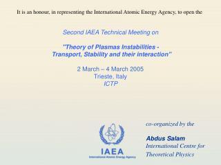 Second IAEA Technical Meeting on