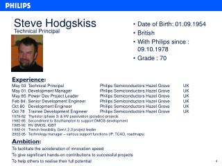 Steve Hodgskiss Technical Principal