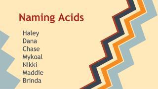 Naming Acids