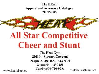 The HEAT Apparel and Accessory Catalogue 2007/2008
