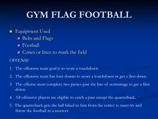 GYM FLAG FOOTBALL