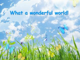 What a wonderful world!