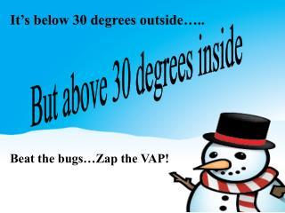 It's below 30 degrees outside…..