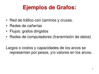 Ejemplos de Grafos: