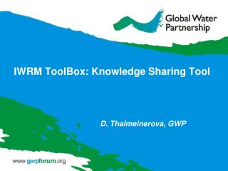 IWRM ToolBox:  Knowledge Sharing Tool