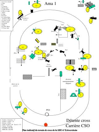 Plan indicatif du terrain de cross de la SHU d'Eckwersheim