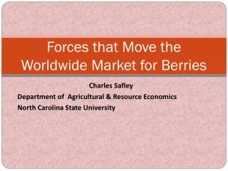 Forces that Move the Worldwide Market for Berries