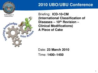 Briefing:  ICD-10-CM International Classification of Diseases   10th Revision   Clinical Modifications A Piece of Cake