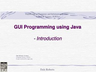 GUI Programming using Java - Introduction