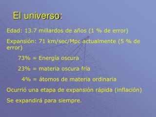 El  universo :