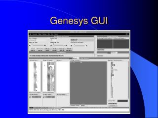 Genesys GUI