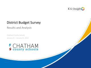 District Budget Survey