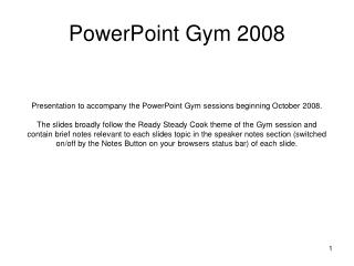 PowerPoint Gym 2008