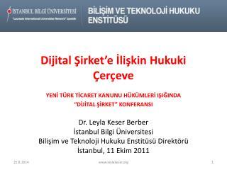 Dijital Şirket'e İlişkin Hukuki Çerçeve