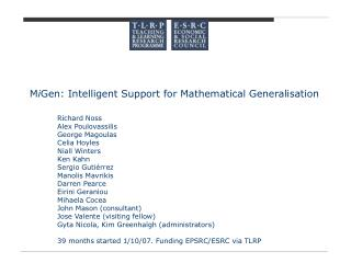 M i Gen: Intelligent Support for Mathematical Generalisation