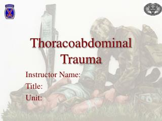 Thoracoabdominal Trauma