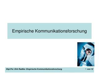 Empirische Kommunikationsforschung