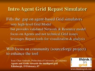 Intro Agent Grid Repast Simulator
